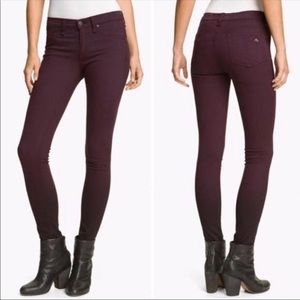 Rag & Bone soft skinny legging jeans in Mulberry